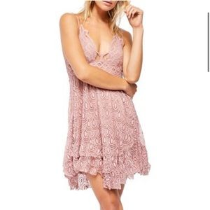 NEW Free People Adella Burnout Lace Velvet Dress